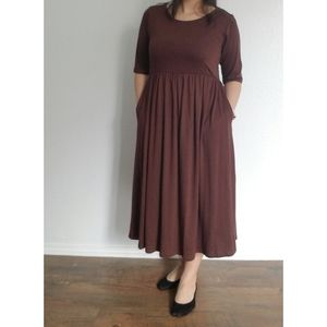 ZENANA OUTFITTERS brown dress